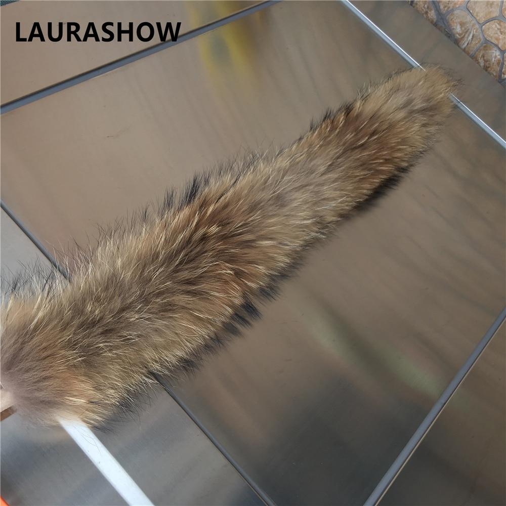 LAURASHOW 70cm jenots kažokādas dabiskas krāsas šalle sieviešu - Apģērba piederumi - Foto 5