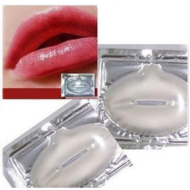 5 יחידות שפתיים מסכת רפידות סרט לחות מהות קריסטל קולגן שפתי תיקון כרית ליפ ירוקים פנים טיפול יופי יסודות קוסמטיקה