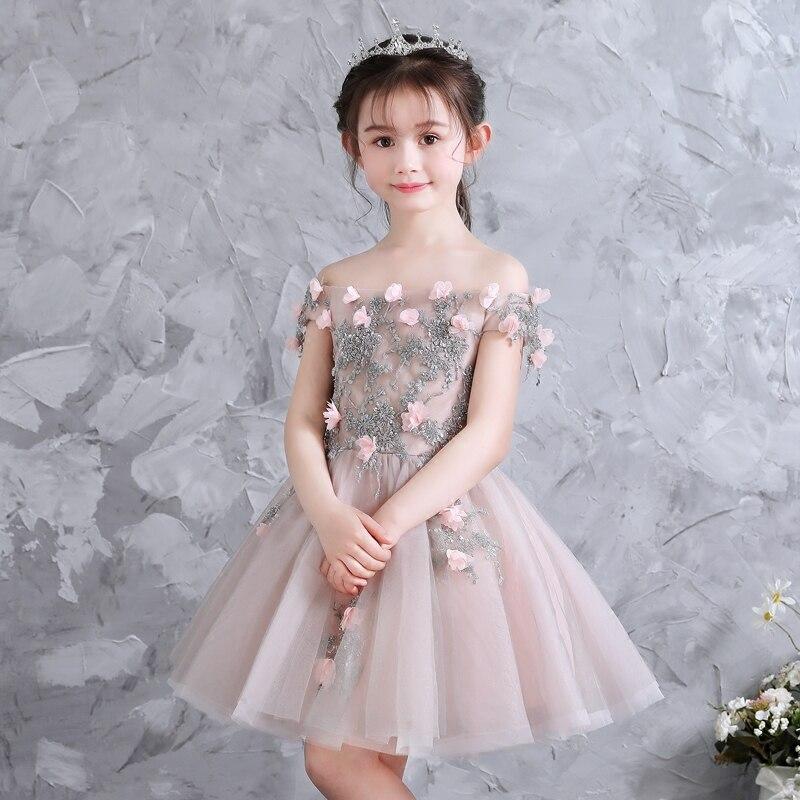 Elegant Christmas Flower Girl Ceremony Dresses Pageant
