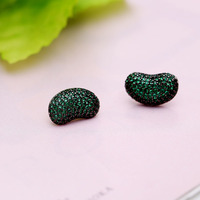 New Candy Candy Girl Heart Earrings Candy Series Curry Bean Ear Studs Peas Earrings For Women's Best New Year Gifts