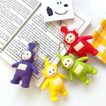 Teletubbies Key chain Pendant Creative Cartoon Doll Decoration Keychain Accessories kids Gift ring Lovely Anime New