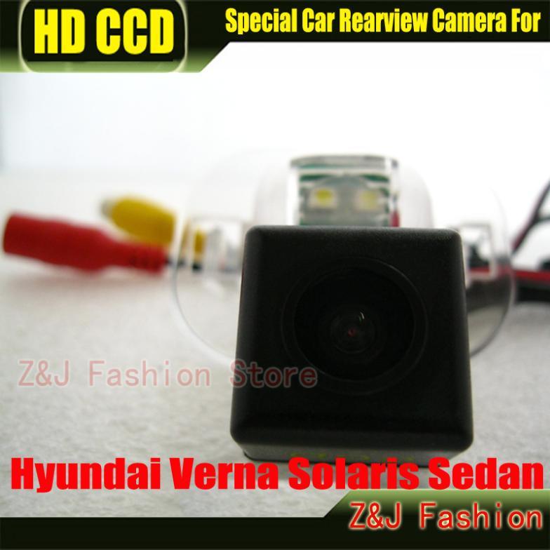 Камера за задно виждане на кола Обратно резервно копие Камера за обратно виждане за паркиране HD CCD за Hyundai Solaris Verna камера за нощна версия