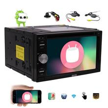 Android 6.0 GPS Car pc DVD Player 2Din Capacitive Screen Car Stereo In Dash GPS Navigation Radio Support WiFi OBD2 Backup Camera
