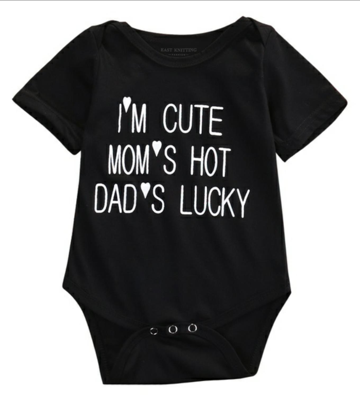 DERMSPE 2019 Fashion Summer Newborn Baby Boys Girls Letter Print Short Sleeve Print Absorb Romper Jumpsuit Clothes Black Hot