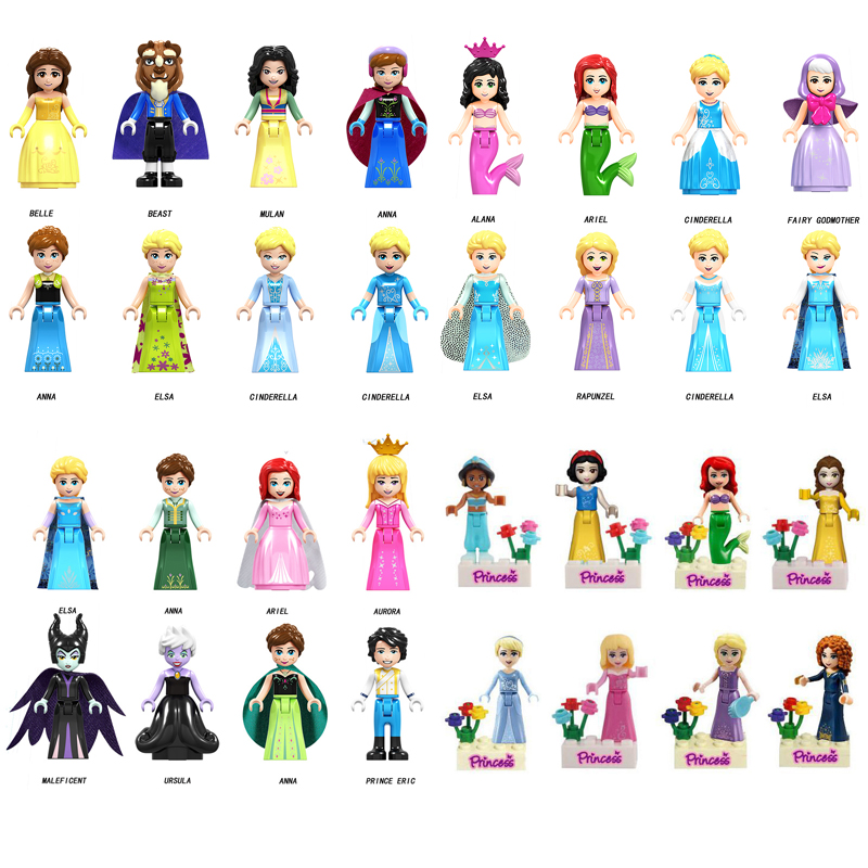 Princess Minifigures Compatible With Lego Girls Toys Minifigures Frozen Beast