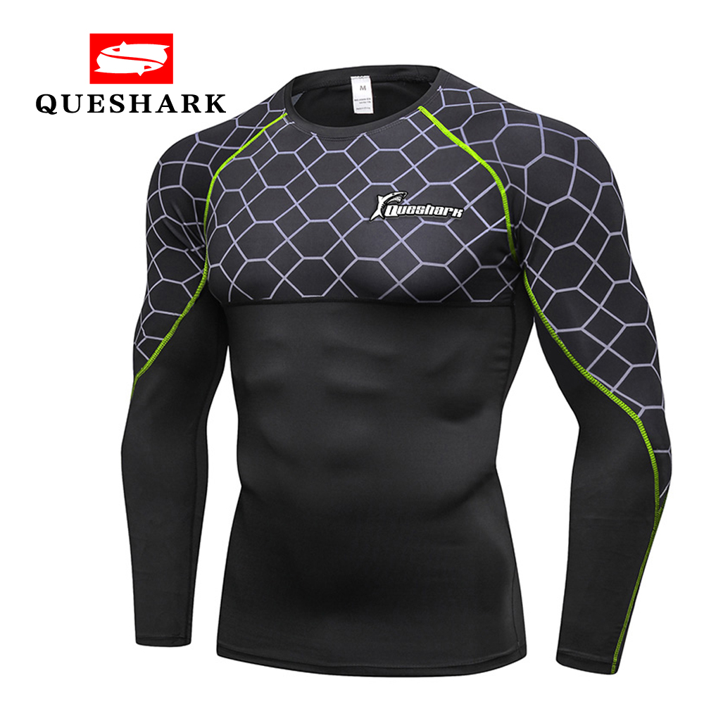 Queshark Men's Thermal Wintergear Compression Baselayer Long Sleeve T Shirts Quick Dry Flexible