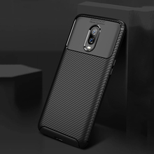 Ikrsses Case For OnePlus 6 Case Luxury Carbon Fiber Ultra Thin Silicone Soft TPU Case for Oneplus 6T Carbon fiber texture Cover