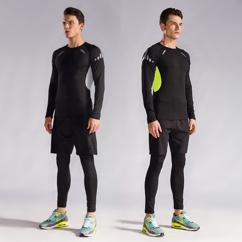 Men/'s Fitness Running Yoga Sportswear Suit Gym Training Workout Clothes 2 Piece