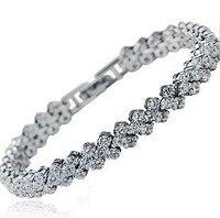 AAA 100 Sterling Silver 925 Jewelry Bracelets Bangles Roman Super Flash Bracelet Fine Jewelry Top Quality