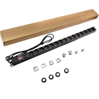 15 Outlets EU Standard Plug Sockets AC Power Wall Socket Plug Adapter With Surge Protection 1