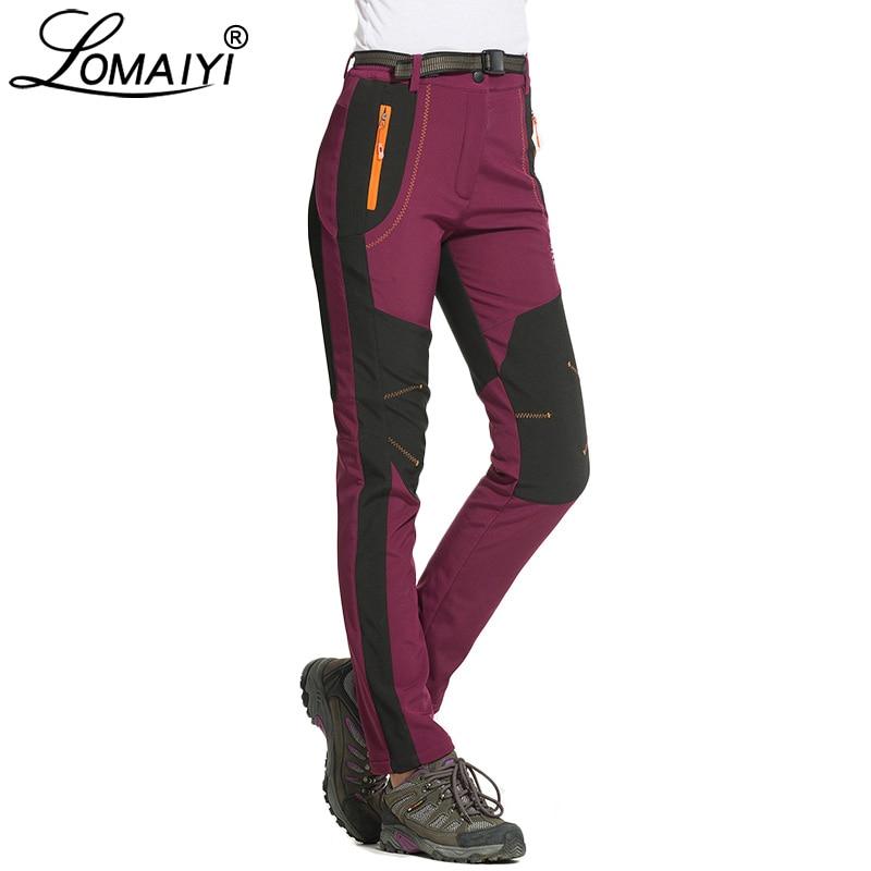 Image 2 - LOMAIYI Cargo Pants Women Winter Warm Pants Womens Trousers  Large Size Sweatpants Woman Fleece Lining Waterproof Pants AW079Pants
