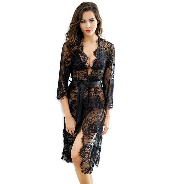 4ec06769 € 15.39 |Feelingirl mujeres Erotic Sexy Lingerie Glam llena de encaje  Boudoir transparente Nightwear Venta caliente ver A través de ropa un en ...