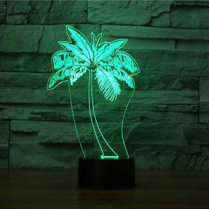 Coconut Led 3d Lamp Remot Touch Switch 7 Color Change Usb Desk Table Lamp Plant 3d Night Light Best Child Gift Lights & Lighting Led Lamps