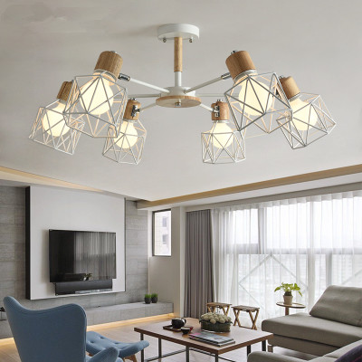 Lustre Wooden Chandelier For Living Room Iron Lampshade LED Chandelier Lighting Lustres Para Sala De Jantar Home LampLustre Wooden Chandelier For Living Room Iron Lampshade LED Chandelier Lighting Lustres Para Sala De Jantar Home Lamp