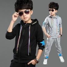 Boys Cotton Clothing Set New Fashion Brand Sport Suit Sweatshirts & Cotton Pants Kids Hip Hop Clothing Set