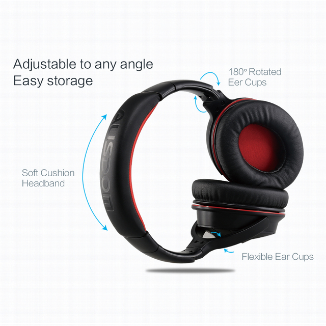 AUSDOM M04s HiFi NFC Bluetooth Headphone Over Ear Wireless Headphones with Mic Strong Bass Stereo Headset for iPhone Xiaomi PC