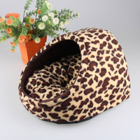 Leopard Grain/Paw Pattern Cute Slipper Design Small Dogs House Princess Dog Bed Dog Nest Washable Warm Pet Kennel Cat Dog Home