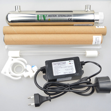 Alta Calidad 304 de Acero Inoxidable de Agua UV Esterilizador 12 W 1GMP Ionizador de Agua de Ósmosis Inversa de Tratamiento de Agua Acuario Equipo