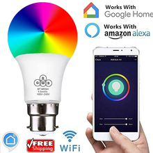 Buy B22 Smart Remote Bluetooth Magic RGB LED Light Bulb 16 Color Change Dimmable Smart WIFI UK Plug Socket for Alexa Google Home directly from merchant!