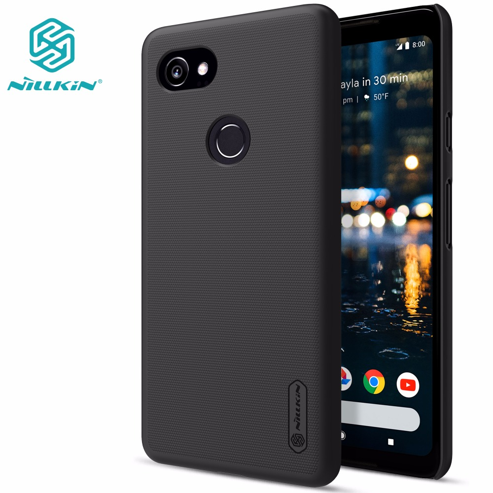Google Pixel 2 case Google Pixel 2 XL cover NILLKIN Super Frosted Shield matte hard back cover with free screen protector