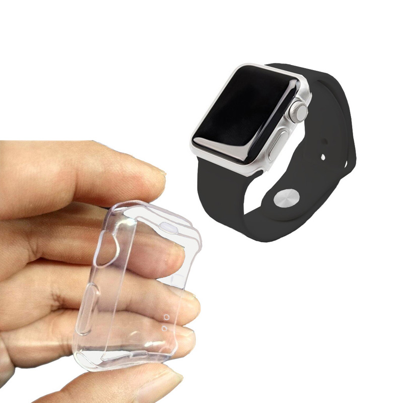 Image 2 - 100pcs Transparent Full Protection Series3 Cases Clear Crystal Silicone Cover for Apple Watch Series 3 2 Case fundas Coque 42mm-in MP3/MP4 Bags & Cases from Consumer Electronics
