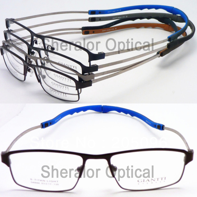 0a3e097d85f wholesale G6666 unisex classic stylish geometry full-rim s titanium  adjustable temple sport optic eyeglass