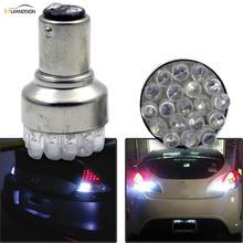 цена на 2PCS 1156 BA15S P21W S25 1157 BAY15D 19 DIP chips LED White Turn Signal P21/5W Car Auto Tail Brake Stop Light Bulb Lamp DC12V