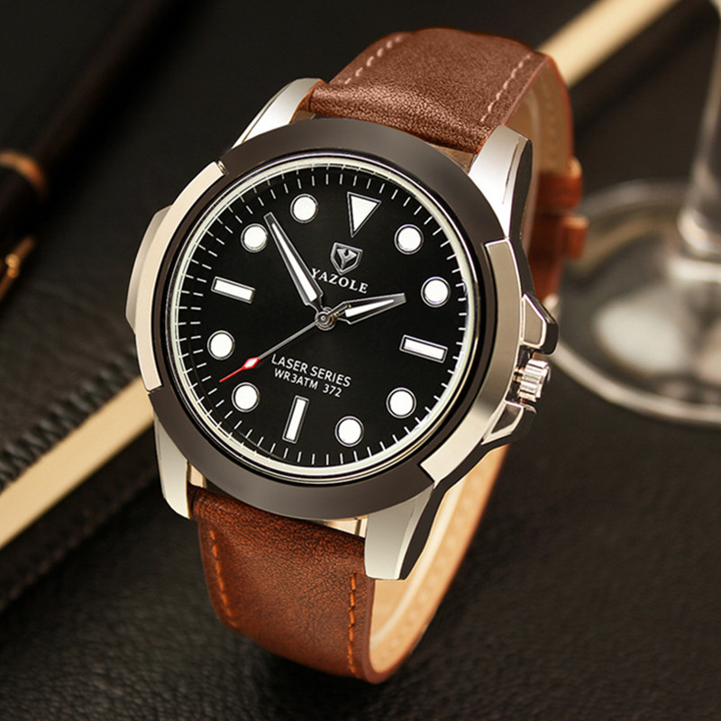 YAZOLE Top Brand Fashion Luminous Sport Watch Men MilitaryWatches Waterproof Quartz Watch Hour Clock montre homme
