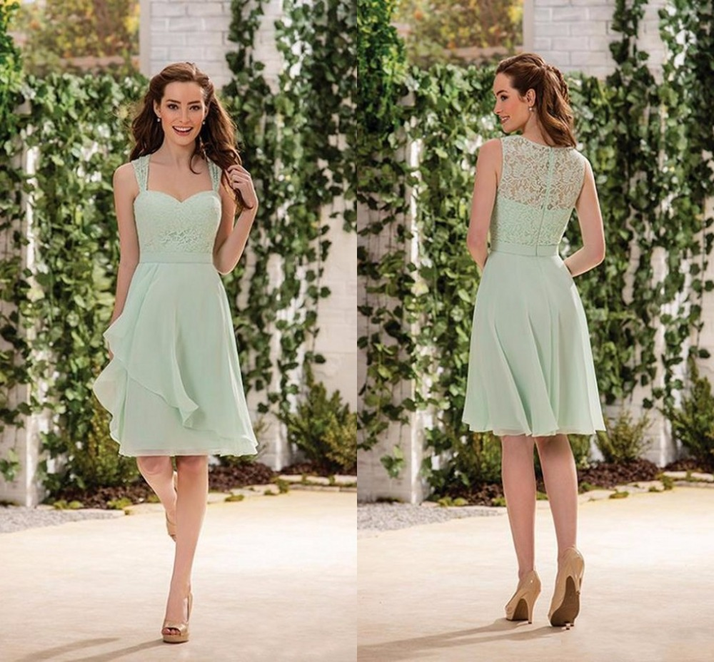 High quality sage bridesmaids dress buy cheap sage bridesmaids 2017 cheap sage country style short bridesmaid dresses sweetheart see through lace chiffon wedding party maid ombrellifo Gallery