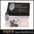 Hotest En stock 100% Original Aspire Cleito RTA con Sistema de Doble Bobina Cubierta estilo de Velocidad envío gratis
