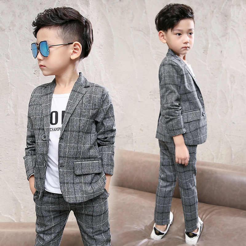 52c001cf7 Children's Baby Kids Boys Clothes Set Gentleman Suits Jacket+Pants 2pcs Clothing  Sets For Teenagers