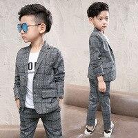 Children's Baby Kids Boys Clothes Set Gentleman Suits Jacket+Pants 2pcs Clothing Sets For Teenagers Boys Party Wedding Suit 60