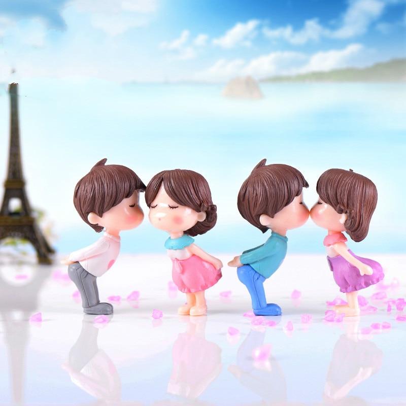 2 шт. целующиеся куклы для пар, маленькие украшения для рукоделия, микропейзажные украшения, Миниатюрный Сад из ПВХ пластика