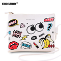 Excelsior de dibujos animados de moda impreso mujeres graffiti bolso mini bolso crossbody casual de las señoras monederos embragues bolso niñas