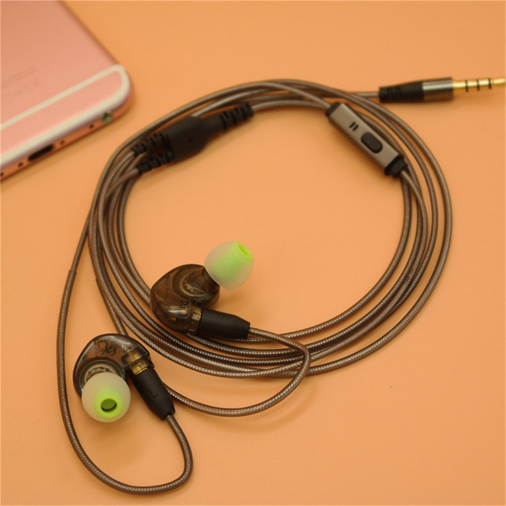 Premium Sound Quality Wired In Ear Earphones Sports Headphones with MIC Microphones & Detachable Earphones Heads