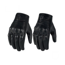 Motorcycle Glove Real Genuine Leather All Season Glove Touch Screen Perforate Men Racing Motorbike Protective Gears Combinations