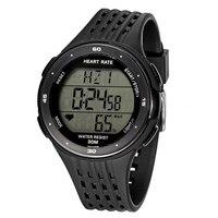 Fitness Sport Smart reloj del pulso del corazón del Monitores y pecho Correa color: negro
