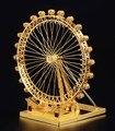 London Eye Ferries roda modelo de corte a laser da cor do Ouro 3D DIY modelo de construção diy brinquedos educativos Jigsaw Puzzle melhores presentes
