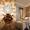 E27 BASE Wall Lamp Bedroom Stair Lamp Crystal Wall Light no bulb  Wall Light Silver/Gold Led Lamp For Bedroom Decor hot sale