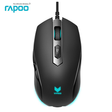 Rapoo V210 Optical USB Wired PRO Gaming Mouse With RGB LED light 5 Keys Programmable PC Gamer Mice for LOL Dota 2 Game