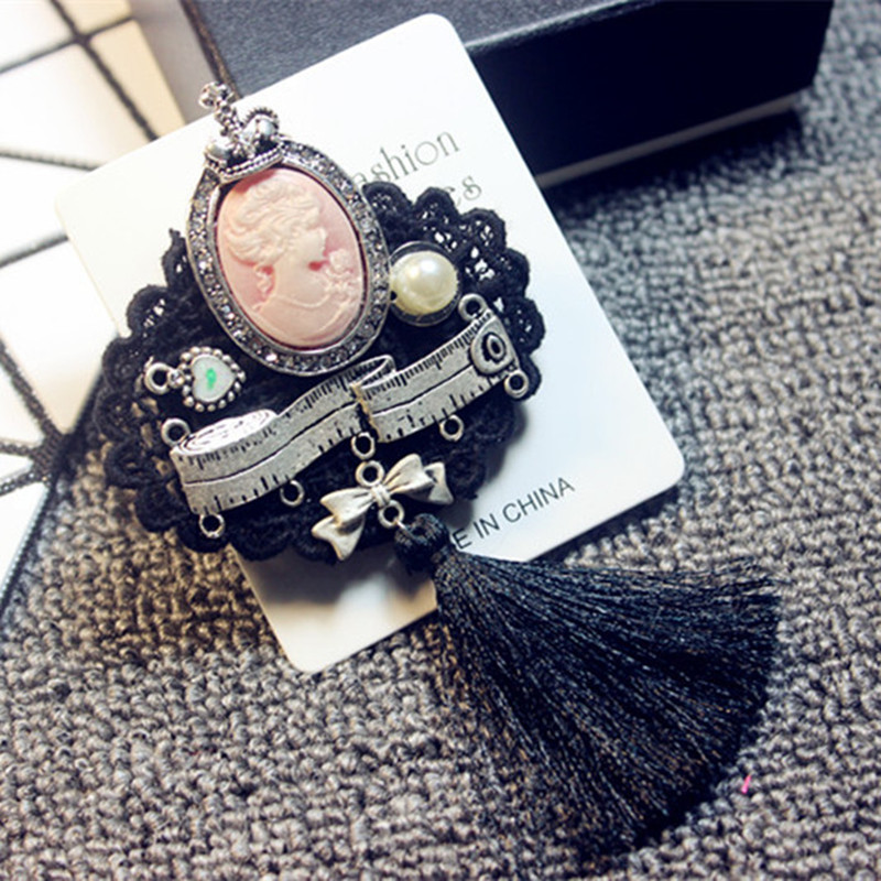 Mix Styles Handmade Brooches Pin for Women Girl Jewelry Antique Tassel Dress Clothes Personality Accessories in Jewelry Findings Components from Jewelry Accessories