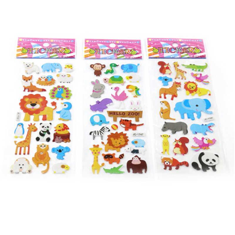 5 Sheets Cute Dinosaur Bubble PVC Stickers Cartoon Kids Classic Toys Stickers SE
