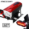 MICCGIN светодиодный велосипедный фонарь с передним пультом дистанционного управления  задний COB велосипедный фонарь  фонарь для велосипедног...