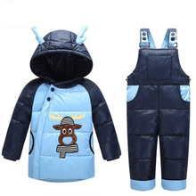 baby snowsuits winter infant boys girls clothing suits snow wear warm hooded duck down jacket thermal