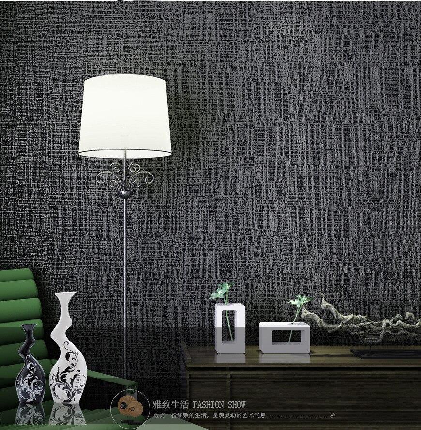 Moderne Simple plaine solide papier peint salon chambre papier peint pour murs 3D gris café Beige noir non-tissé papier peint