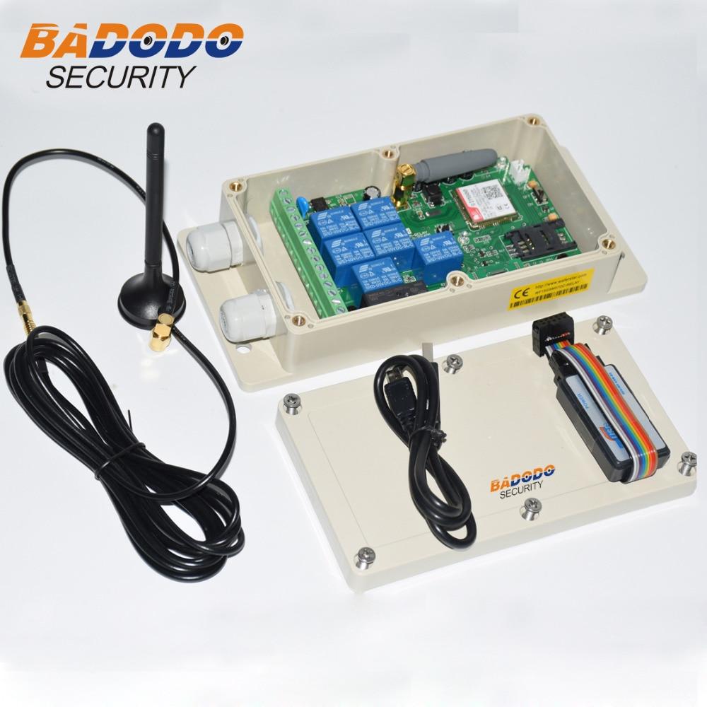 Badodo Seven relay output GSM remote controller Box DC12V 24V Power supply GSM Relay Support SMS
