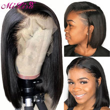 Short Bob Lace Front Wigs Remy Human Hair Wigs For Black Women Pre Plucked With Baby Hair Full End Brazilian Straight Hair Wigs(China)