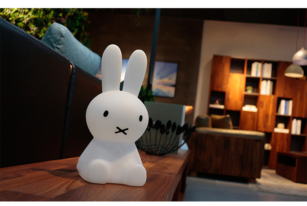 SuperNight Cartoon Rabbit LED Night Light Dimmable Rechargeable Touch Sensor Bedroom Bedside Table Lamp for Baby Kids Toy Gift (30)