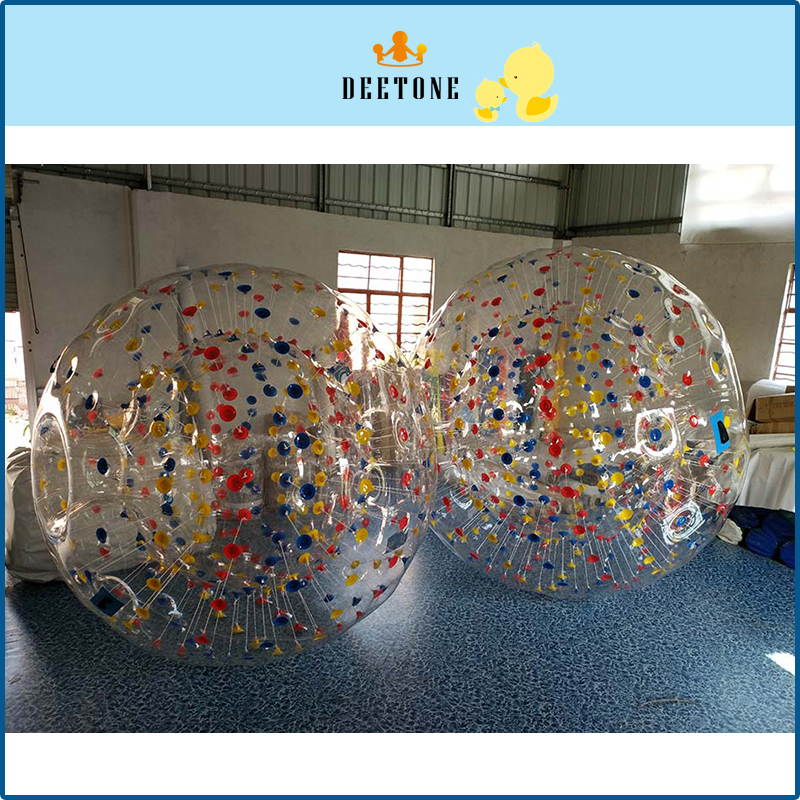 DEETONE 0.8mm PVC 2.8M Bubble Soccer Zorb Ball Bumping Boat Loopy Ball Inflatable Human Hamster Ball Bumper Balls For Adults