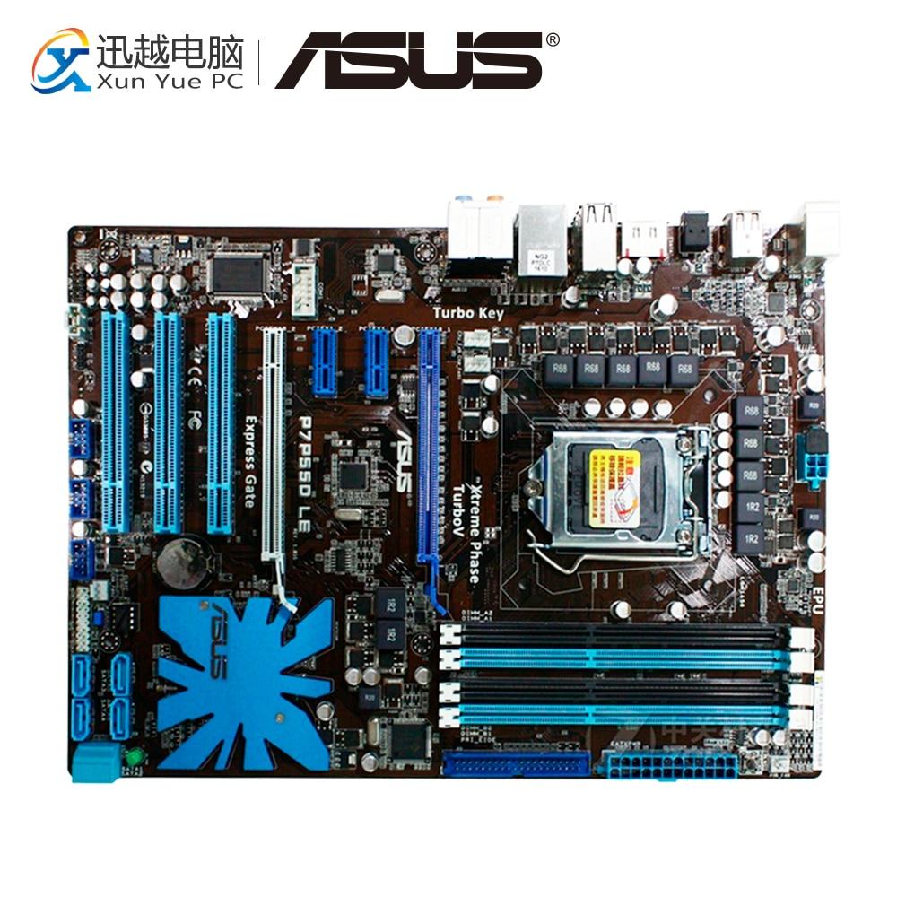 цена на Asus P7P55D LE Desktop Motherboard P55 LGA 1156 i5 i7 DDR3 16G SATA2 USB2.0 ATX